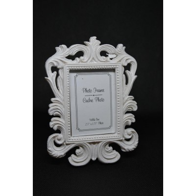 Cadre Photo Mini  Carré Blanc 1¾  x 2 ½